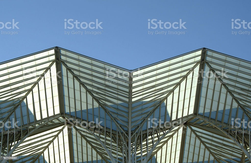 Metallic structure roof royalty-free stock photo