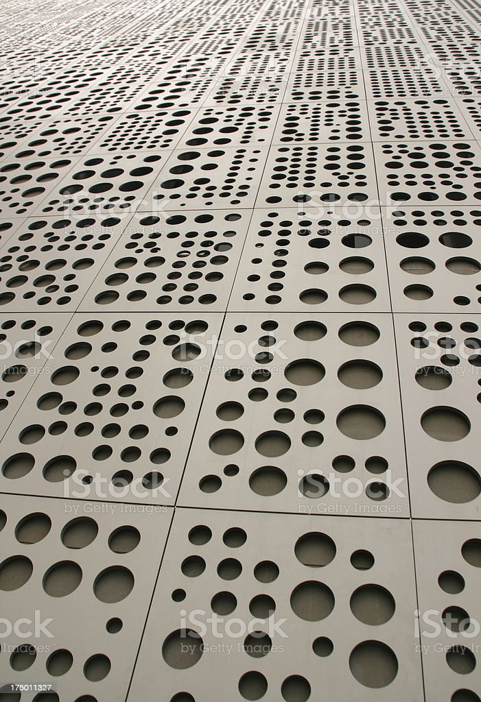 metallic structure with holes royalty-free stock photo
