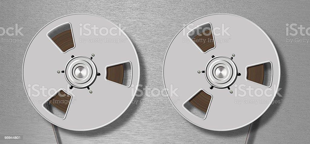 metallic tape recorder royalty-free stock photo