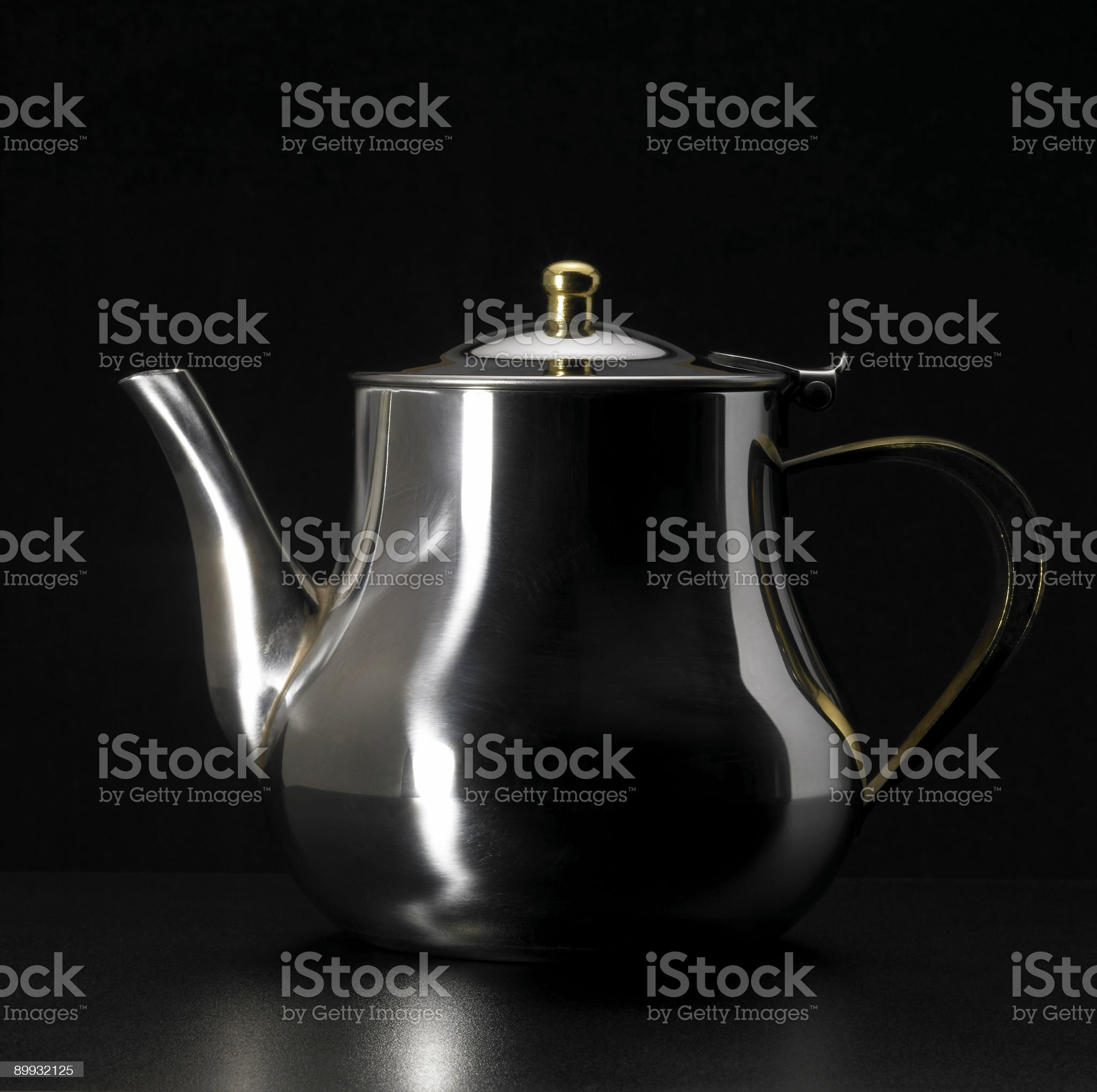metallic tea pot royalty-free stock photo