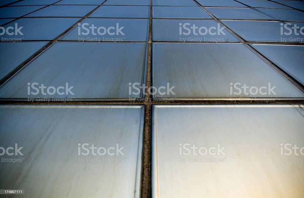 Metallic  tiles stock photo