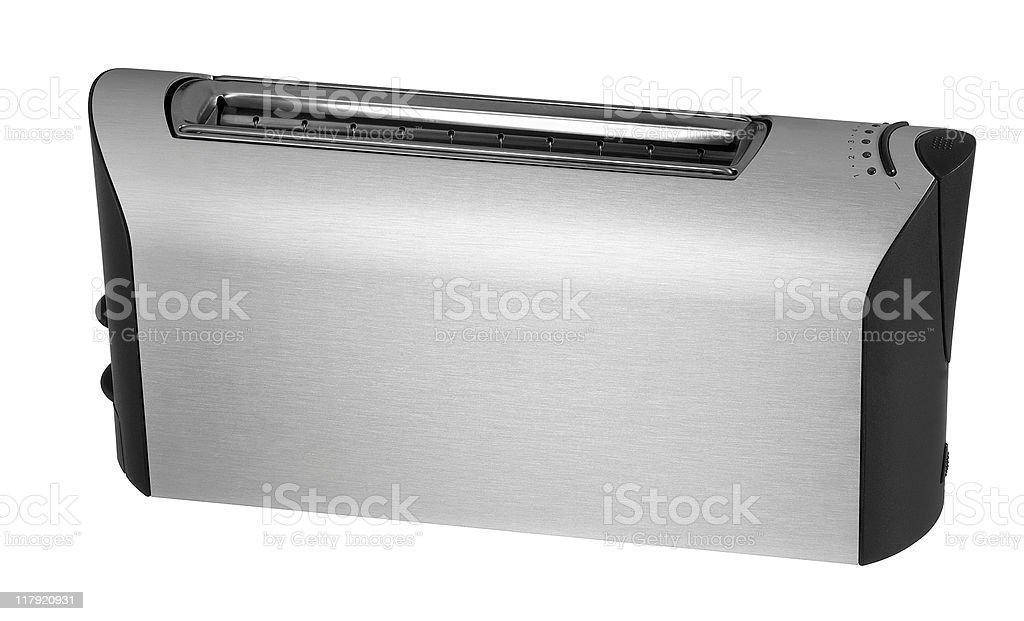 metallic toaster stock photo
