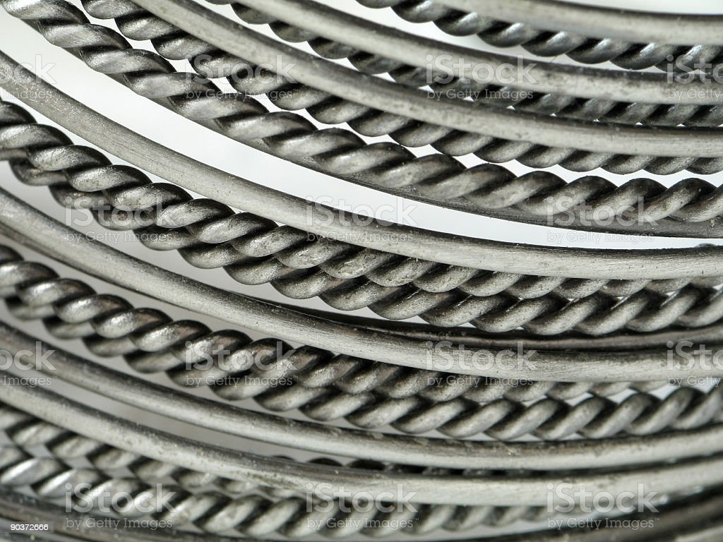 Metallic Twirls (Background) royalty-free stock photo