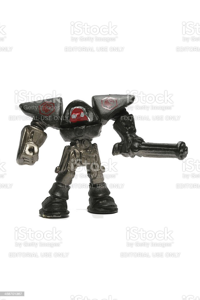 Metallic Warrior stock photo