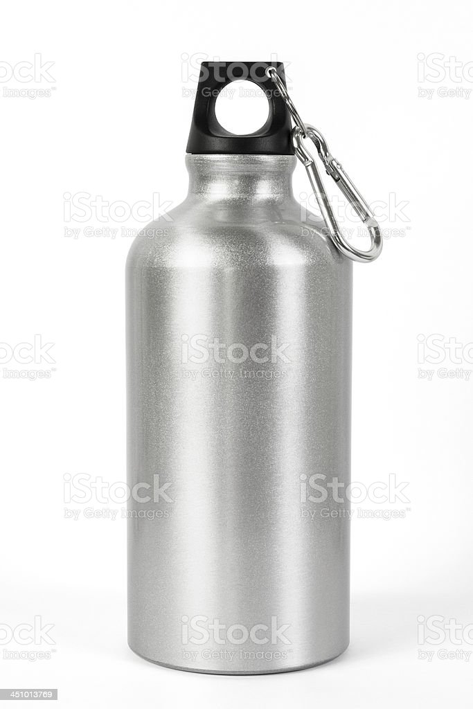 Metallic Water Bottle stock photo
