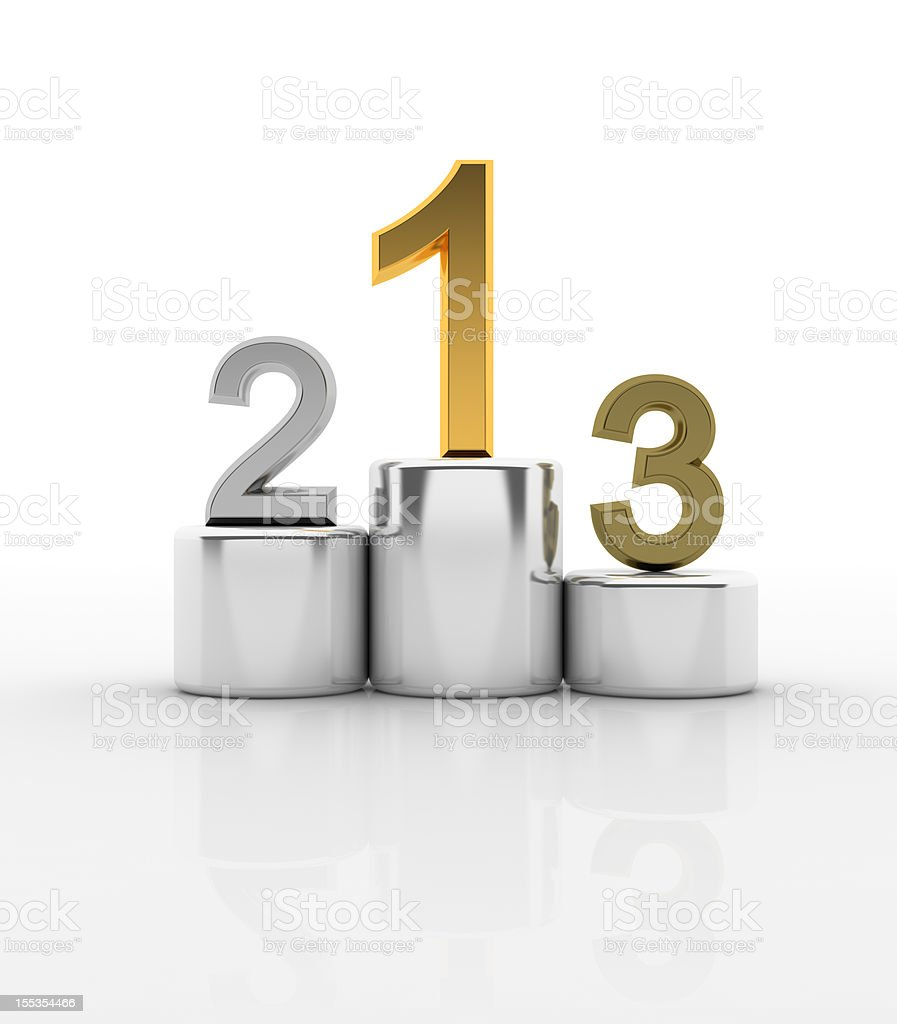 Metallic winner podium royalty-free stock photo