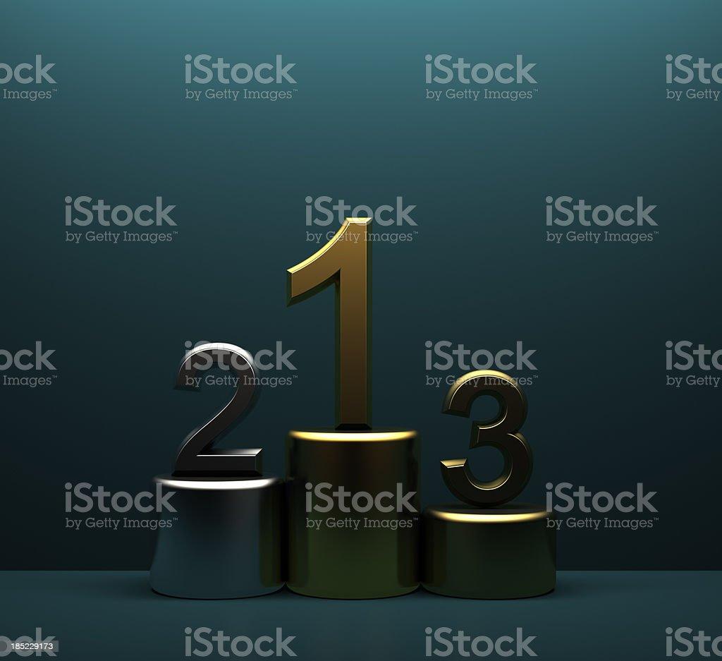 Metallic winner podium royalty-free stock photo