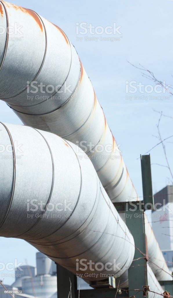 Metallrohr stock photo