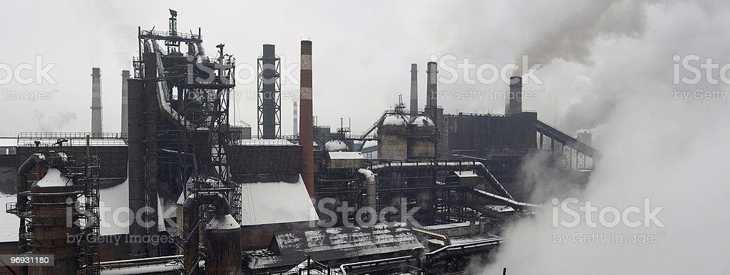 metallurgical industrial complex stock photo