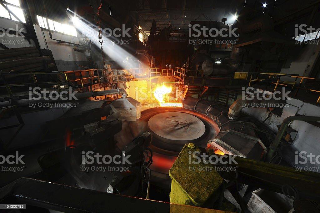 Metallurgical plant stock photo