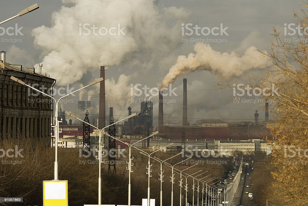 Metallurgical Plant royalty-free stock photo