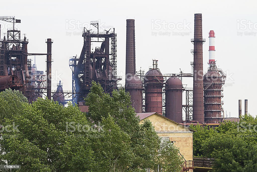 Metallurgical works stock photo