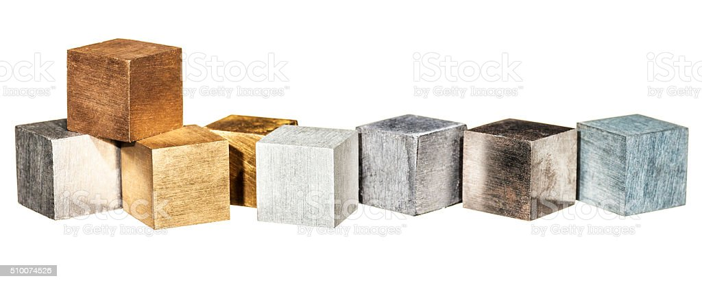 Metals, isolated on white stock photo