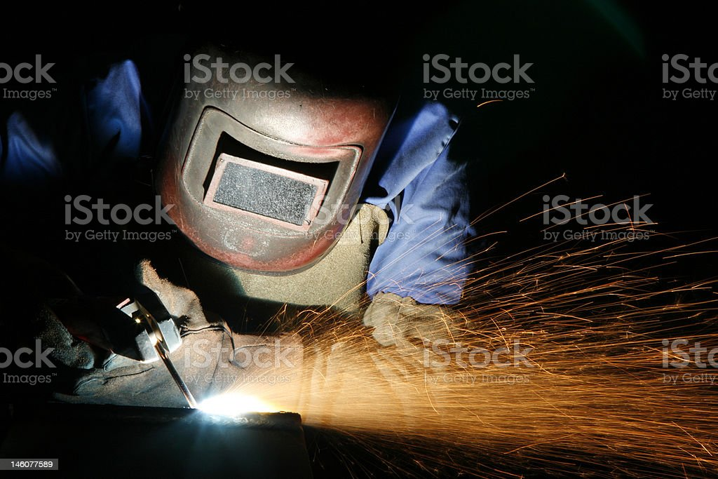 Metalworker stock photo