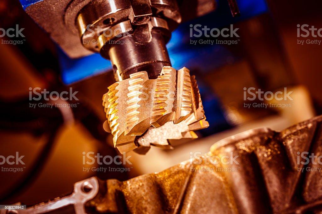 Metalworking CNC milling machine. stock photo