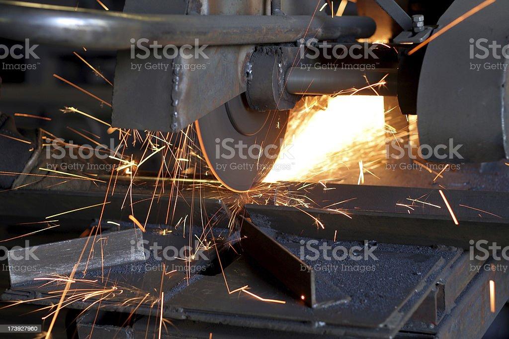 metal-working industry - cuting royalty-free stock photo