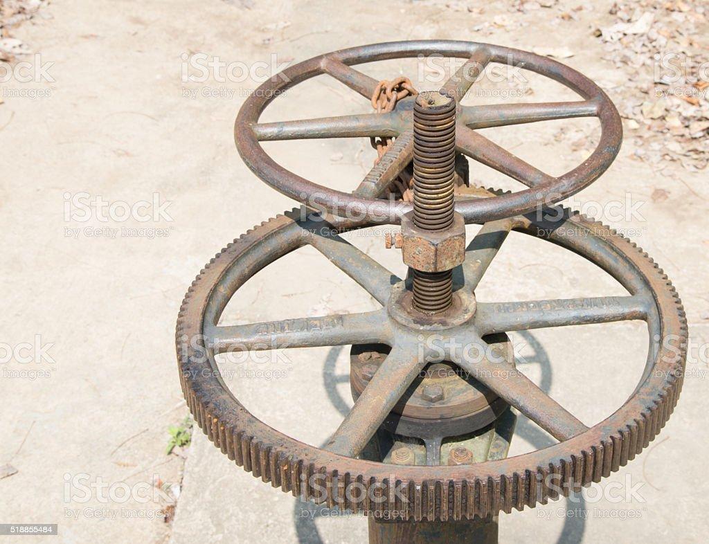 metalworking industry: tooth gear wheel machining stock photo