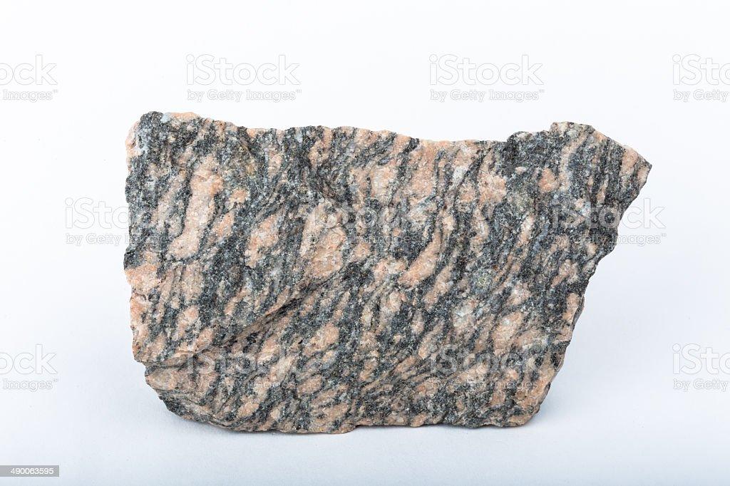 metamorphic gneiss rock texture stock photo