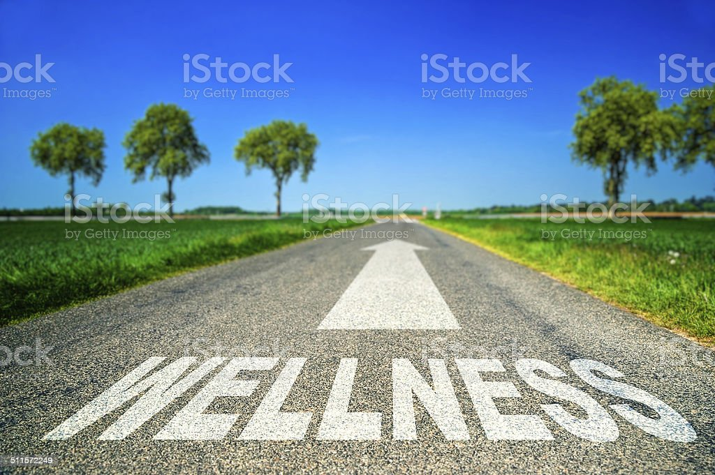 metaphor about the stress and wellness royalty-free stock photo