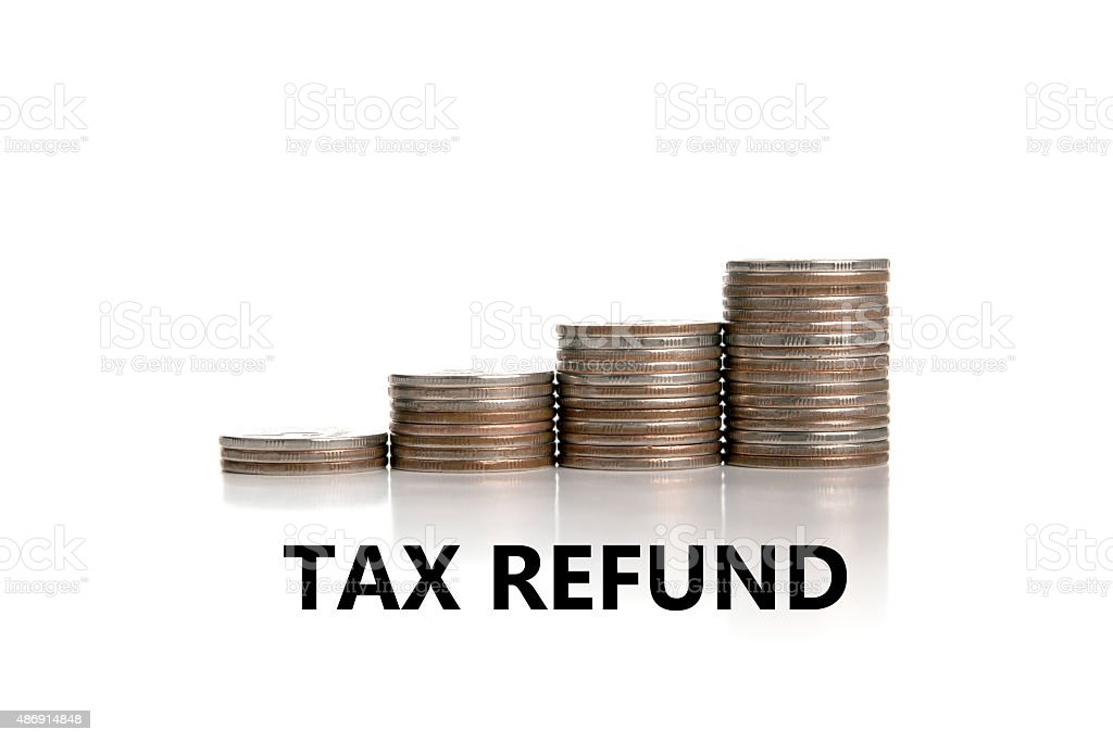 metaphor for the payment of taxes stock photo