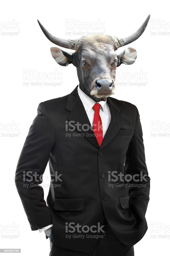 Metaphore of strong businessman concept stock photo