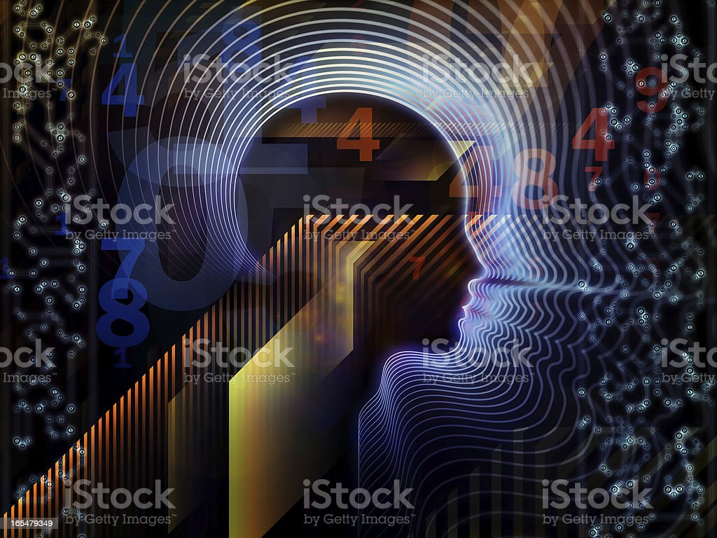 Metaphorical Human Technology royalty-free stock photo
