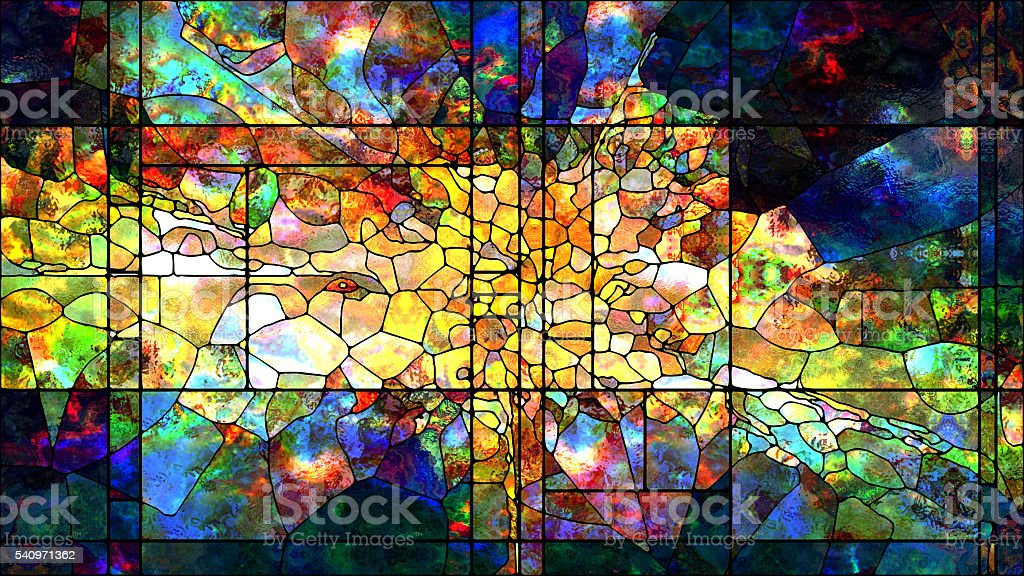 Metaphorical Stained Glass stock photo