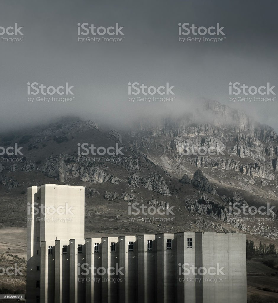Metaphysical architecture stock photo