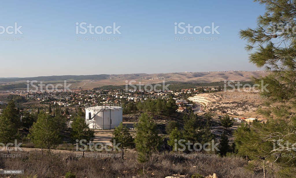 Metar, a comunity village northen Ber-Sheva, Israel stock photo