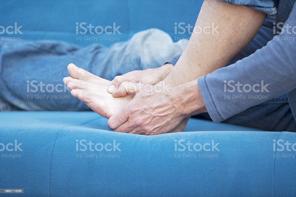 Metatarsal pain stock photo