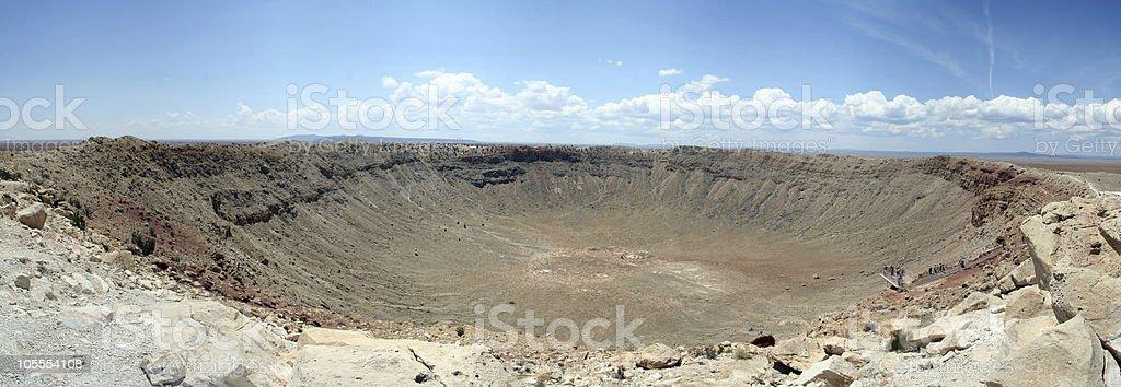 Meteor Crater, Arizona stock photo