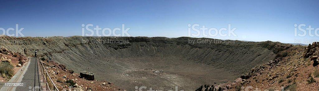Meteor Crater Panoramic stock photo