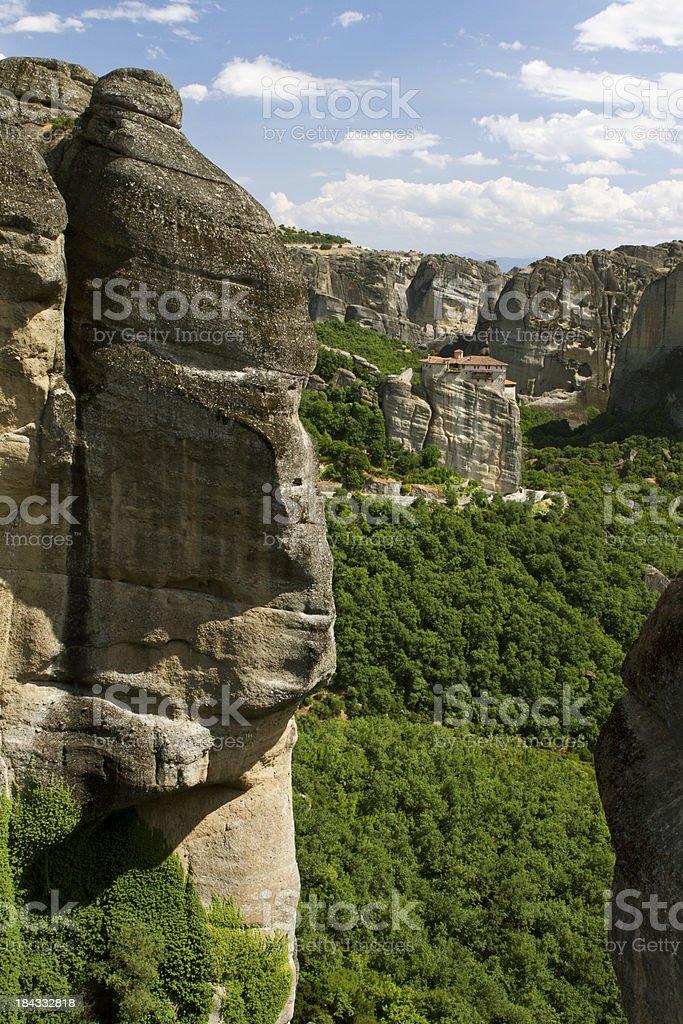Meteor monastery in Greece stock photo