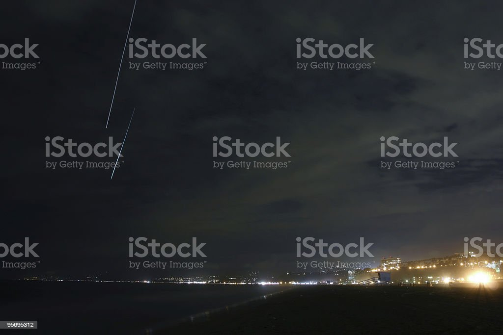Meteor Shower royalty-free stock photo