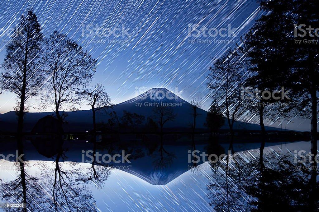 Meteor Strike (Mt Fuji) royalty-free stock photo