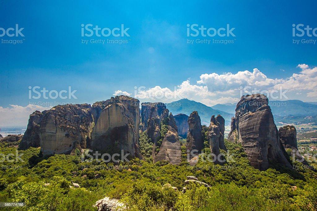 Meteora Greece stock photo