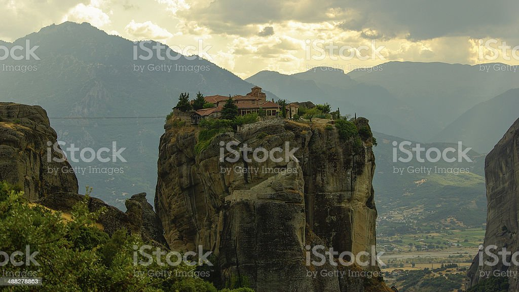 Meteora monasteries, Greece stock photo