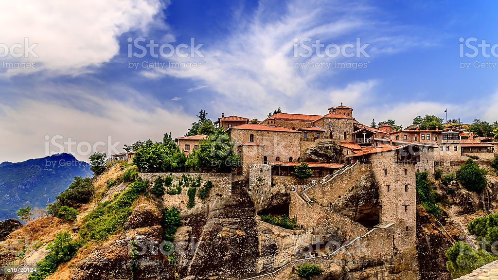 Meteora Monasteries, Greece. stock photo