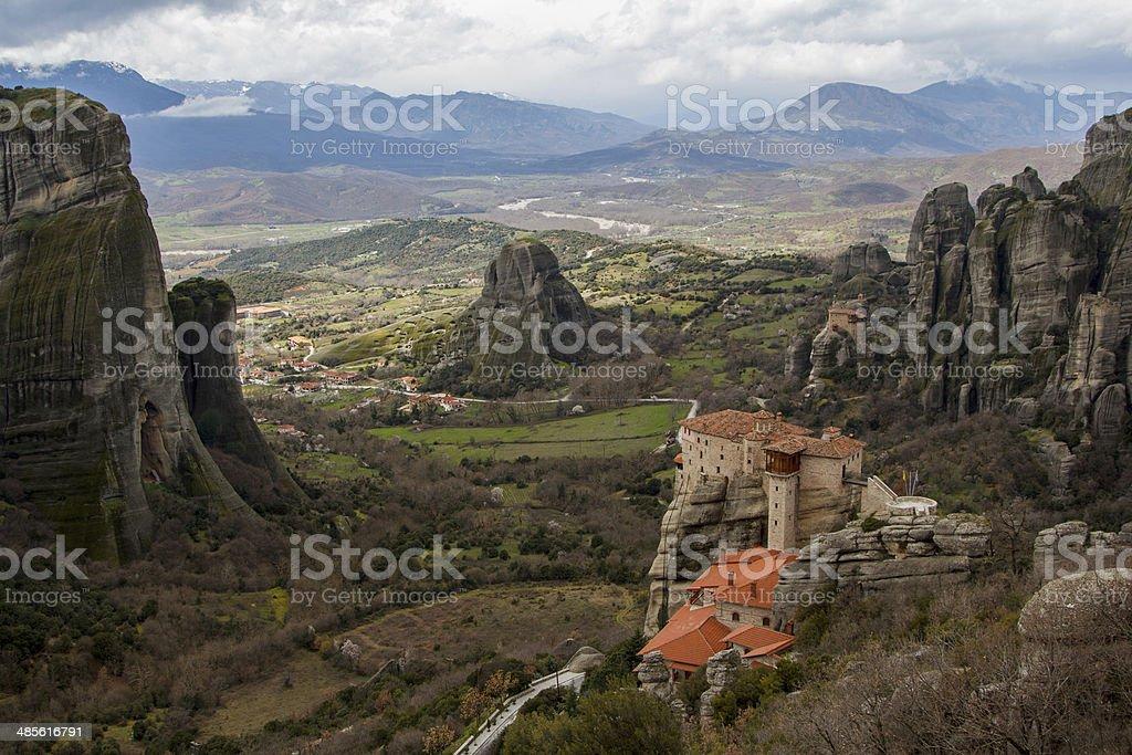 Meteora Monasteries stock photo