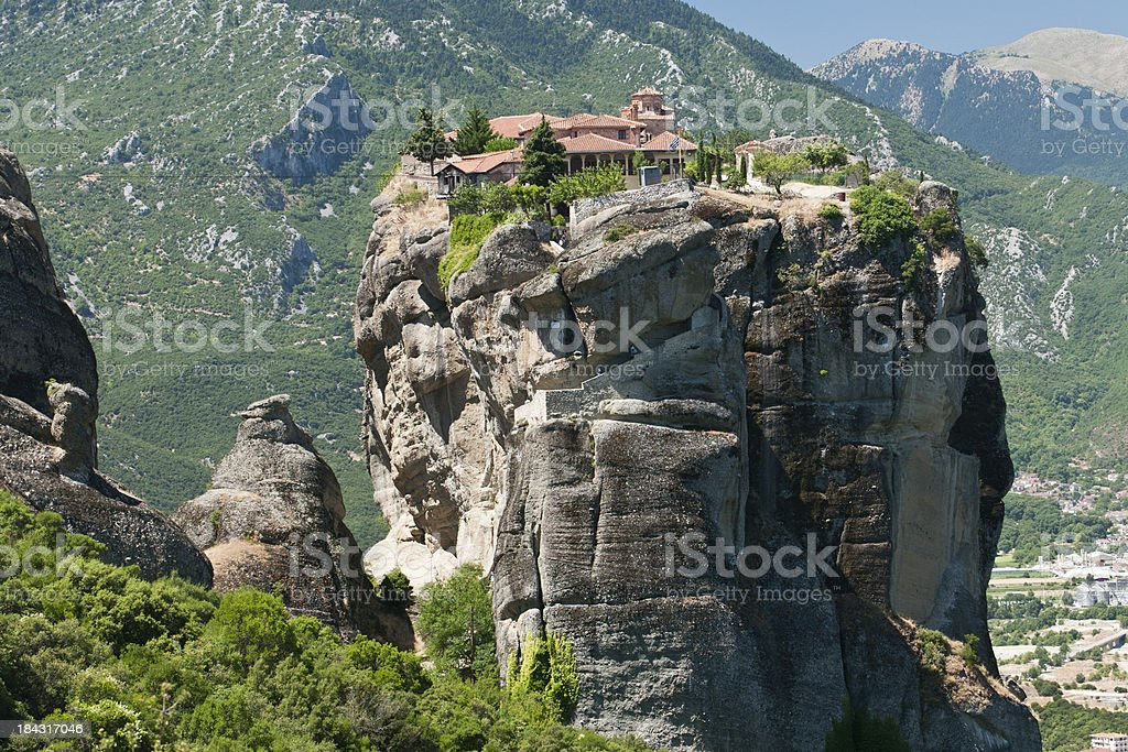 Meteora monastery in greece royalty-free stock photo