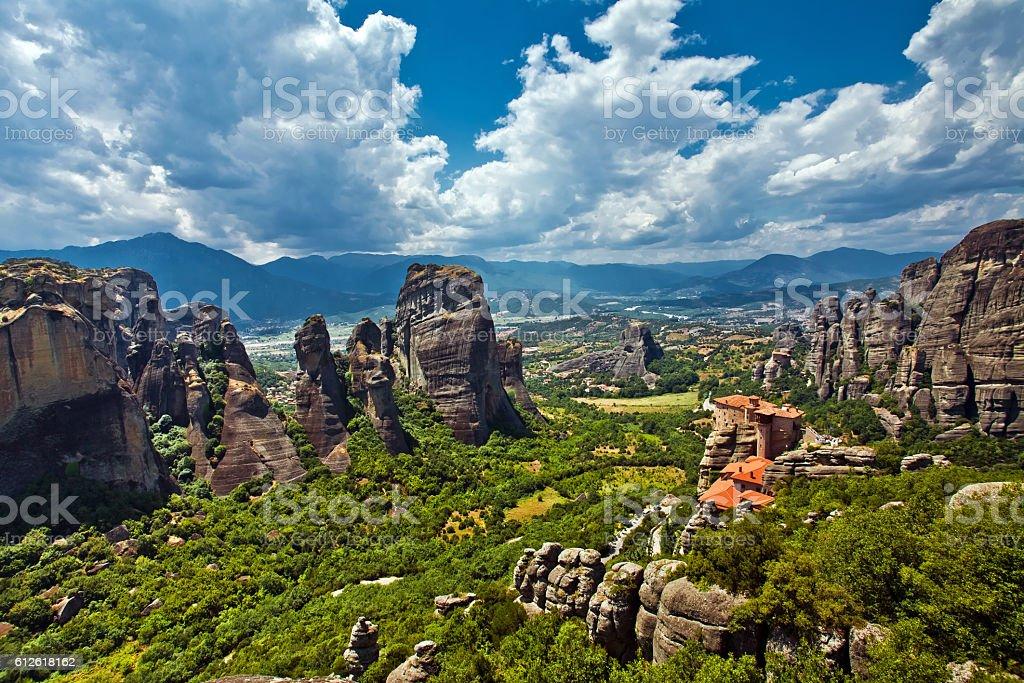 Meteora Rock Formations stock photo