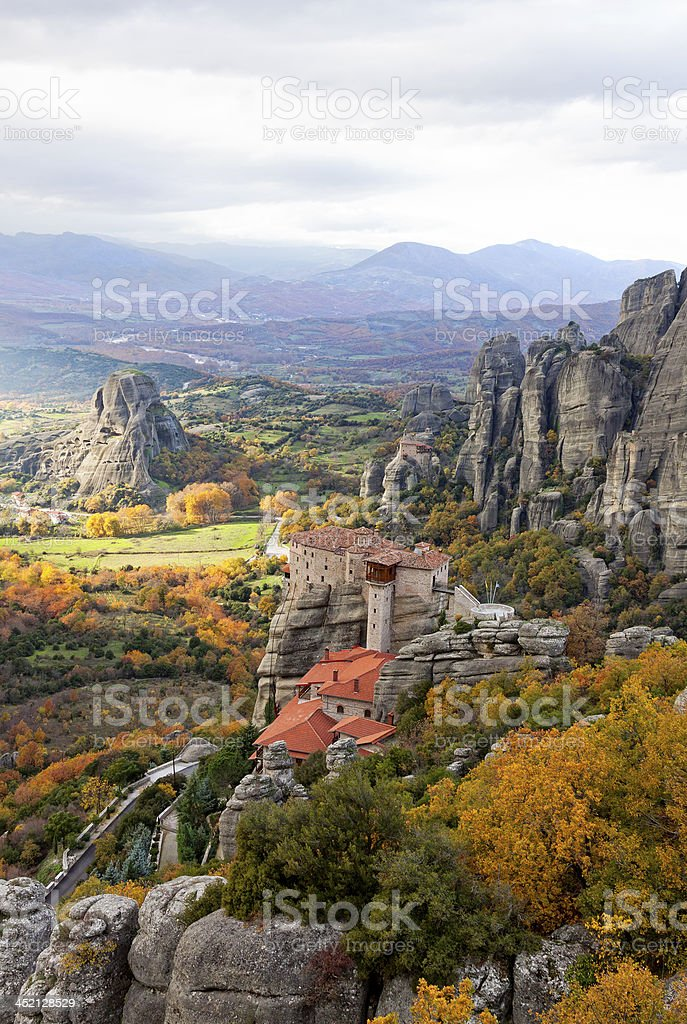 Meteora Rocks, Greece stock photo