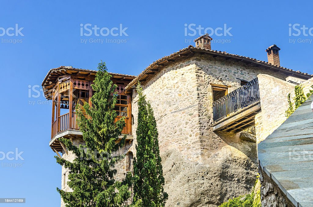 Meteora Rousanou monastery, Greece royalty-free stock photo
