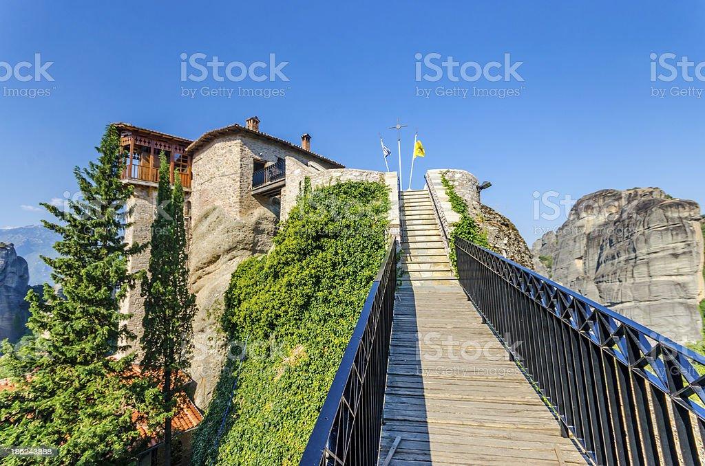 Meteora Rousanou monastery, Greece royalty-free stock photo