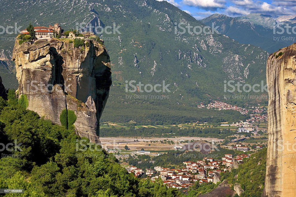 Meteora, the Holy Trinity Monastery stock photo