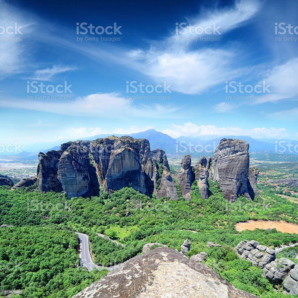 Meteora valley stock photo