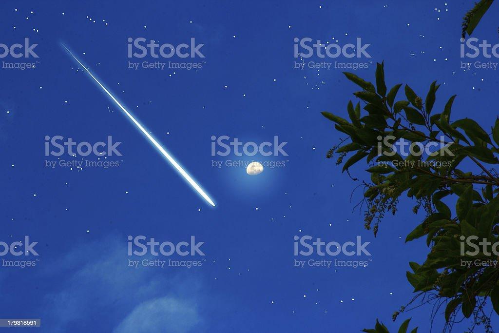 meteoric night stock photo