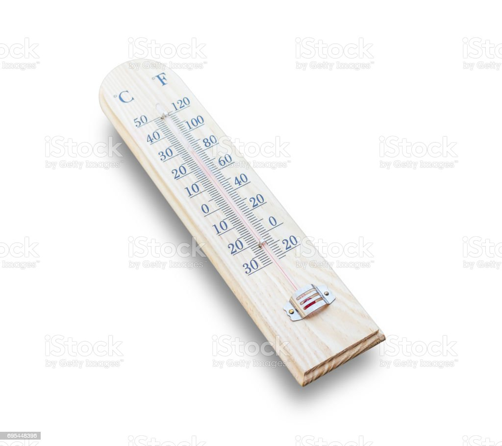 Meteorology Thermometer isolate on white background stock photo