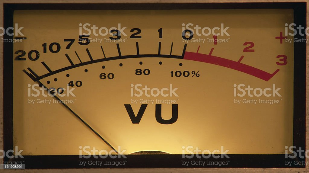 VU Meter illuminated stock photo