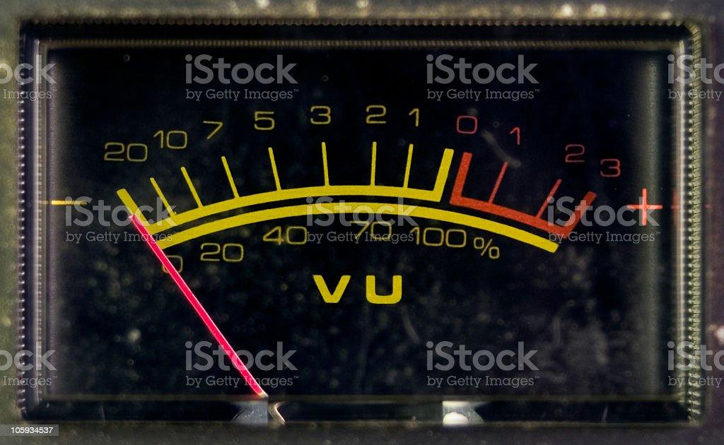 VU Meter stock photo